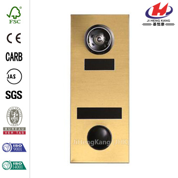 145 Anodized Gold Door Viewer with Mechanical Chime