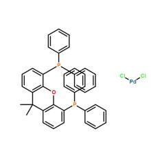 Dichloro[9,9-dimethyl-4,5-bis(diphenylphosphino)xanthene]palladium(II), min. 98% CAS 205319-10-4