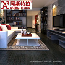 12mm Black Color Wood Grain Embossed Laminate Wooden Flooring