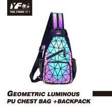 Bolsa de pecho cruzada reflectante luminosa personalizada lingge