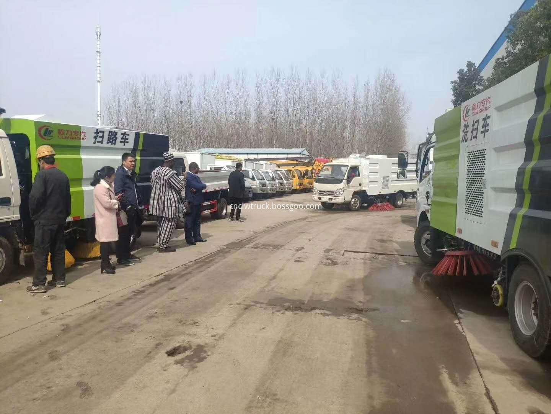 road sweep truck customer visit 2