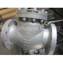 API Válvula de retención oscilante de acero inoxidable del extremo de la brida