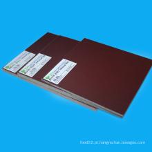 Folha laminada do papel Phenolic alaranjado do plástico 3021 isolado