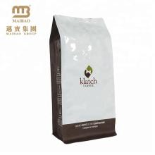 Kundenspezifisches Lebensmittel, das flachen unteren Kaffee-Paket-Aluminiumfolie-Plastik Coffe Bohnen-Taschen mit Ventil verpackt
