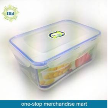 Rect plastic food container