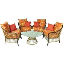 Muebles de mimbre al aire libre 5pc chat set