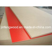 Plain MDF/Raw MDF Board/Melamine MDF Red Color 1220*2440*13mm