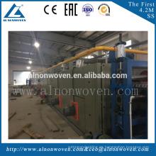 Cadenas de producción suaves del horno de la fibra de fusión baja / del horno consolidado termal para hacer el colchón