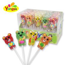 Bear Shape Fruits Jelly Lollipop Gummy Lollipop Sweet