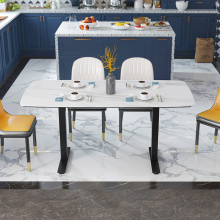 Luxury Dining Table Set Marble Top Livingroom Furniture