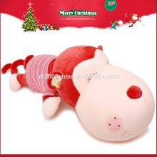 Juguete promocional felpa de la felpa del amor del mono blanco de la Navidad para la muchacha