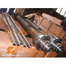 Kabra Extrusion PVC Параллельный двухшнековый и цилиндрический