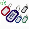 Kvadratisk Debossed Fill Dog Tags Silicone Pet Tag