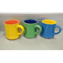 Taza de cerámica de dos tonos, nueva taza de cerámica de la forma. Taza de café