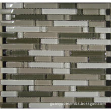 long and short glass crystal mosaic