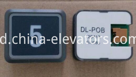 Black Ultrathin Push Button for Hitachi Elevators DL-POB