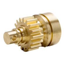 Machined Brass Pump Gear Custom Factory dengan Hub