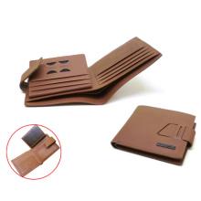 Mold make brand men wallet brown color
