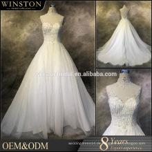 Neuer Entwurf nach Maß Hochzeitskleider mit Verschönerung