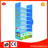 China paper product shelf / Custom cardboard promotional floor display paper shelf