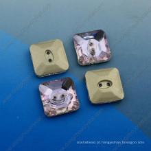 Quadrado Fantasia Botões Pedras