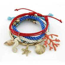 fashion bracelet 2015 shell start charm bracelet beach accessories for women