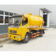 Camión de basura desmontable del cargo de 4 cbm / camión de succión de las aguas residuales / carro de la succión de vacío / camión de aguas residuales más pequeño