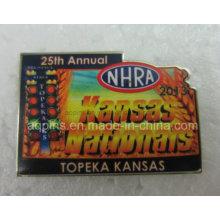 25ème badge imprimé annuel compensé en acier inoxydable à faible coût (badge-110)