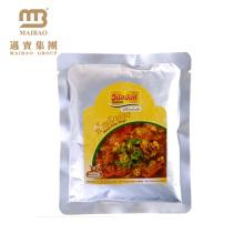 Bolso sellado vacío de encargo de la comida del plástico de Mylar de empaquetado del sello lateral tres