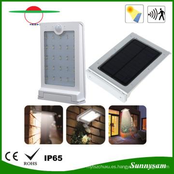 Luz accionada solar impermeable del sensor de movimiento de 200lm PIR para el patio