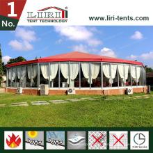 Barraca poligonal de 15m, barraca redonda do quadro de alumínio para partidos