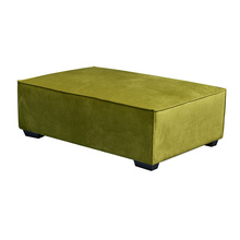 Home Sofa Manufacturer Modern Oversized  Light Green Tufted Ottoman Stool Velvet