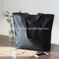 Водонепроницаемый 100% полиэстер черная сумка с собственный логотип
