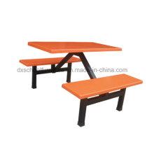 Table de salle à manger à table et chaise en fibre de verre pour le restaurant (BL330-4)