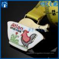Medalhas personalizadas de aves e flores de metal
