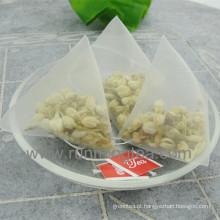Sacos de chá impressos personalizados Saco de chá pirâmide