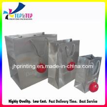 Sac en papier de Noël / Sac en papier argenté / sac cosmétiques / sac cadeau