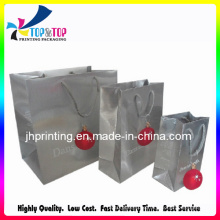 Christmas Paper Shopping Bags with Ribbon Handle