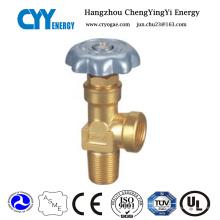 Válvulas de cilindro de gas de oxígeno forrado de aleación de aluminio de CNG
