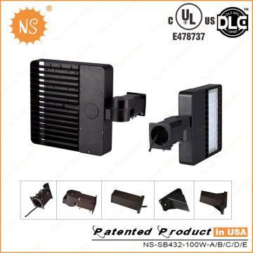 UL Dlc IP65 Parkplatz im Freien 100W LED Schuhkarton Licht