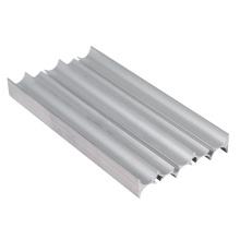 Экструзионный экструдированный профиль из анодированного алюминия серебристого цвета