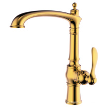 Quality hot and cold brass kitchen faucet