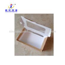 Fertigen Sie Farbe Kraftpapier-Verpackenkasten für Schnellimbiß gebratene Flügel besonders an