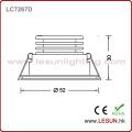 Petit projecteur de 1W argent du certificat LED pour l'étalage (LC7261S)