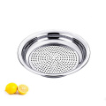 Stainless Steel Dumpling Steamer Dinner Plate with Strainer /Restaurant Tray Serving