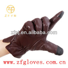 Touch-screen leather gloves for man