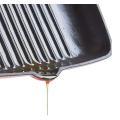 Bandeja quadrada da grade do ferro fundido do esmalte / bandeja de fritada / placa do bife