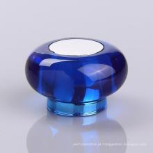 Tampas azuis elegantes das garrafas de perfume de Surlyn