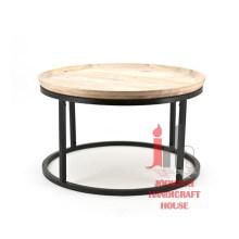 Table ronde en fer rond