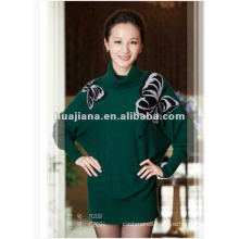 women's 100% cashmere long sweater turtleneck